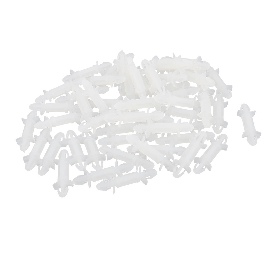 50 Pcs 3mm Dual Head Snap-in Insulate PCB Board Spacer 10mm Supporting Height