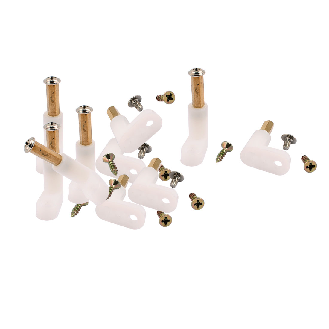 10 Pcs L Shape Insulated PCB Spacer 35mm Supporting Height w Self-Tapping Machine Screw