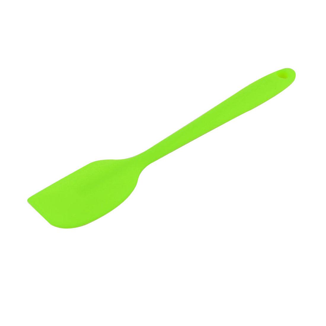 Silicone Cake Cream Butter Mixing Stir Bakeware Tool Spatula Scraper Green