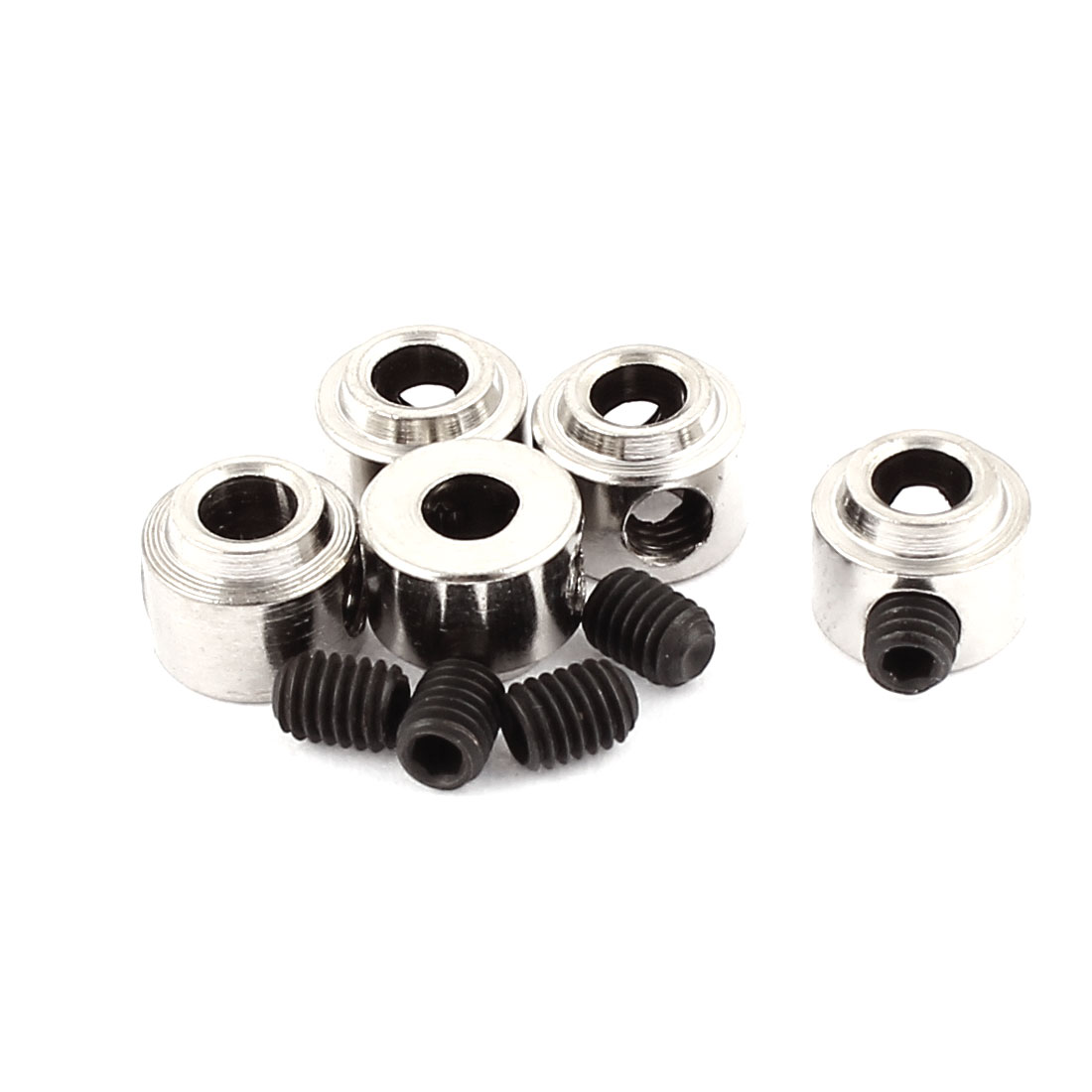 5Pcs RC Airplane Landing Gear Wheel Stoppers 3.1mm Inner Dia 7x5.5mm w Screw