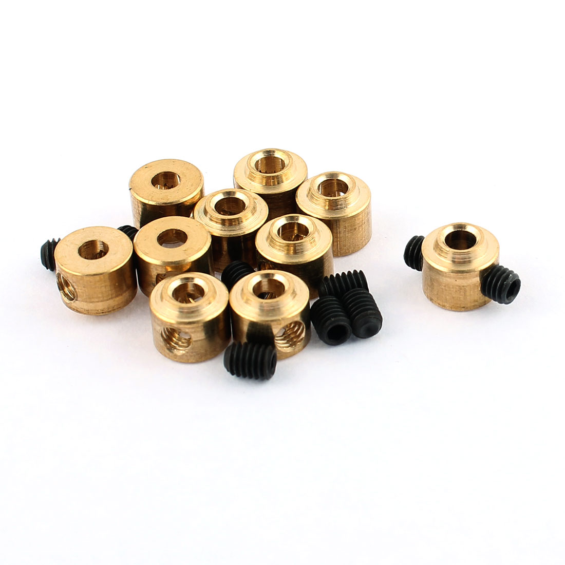 10 Pcs RC Airplane Landing Gear Wheel Collars 2.5mm Inner Dia 6.5x5.5mm w Screw