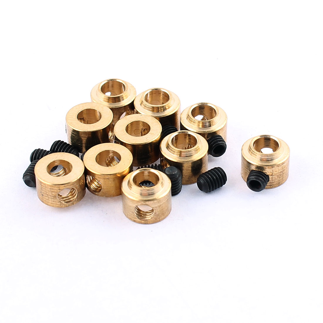 10 Pcs RC Airplane Landing Gear Wheel Collars 3.5mm Inner Dia 7x5.5mm w Screw