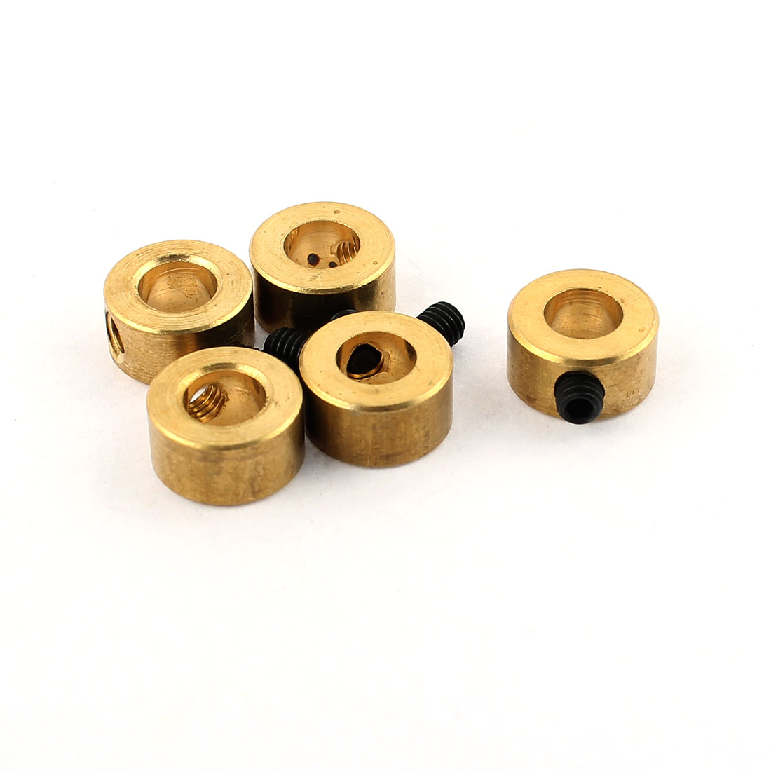 5 Pcs RC Airplane Landing Gear Wheel Stoppers 5mm Inner Dia 8x5mm w Screw