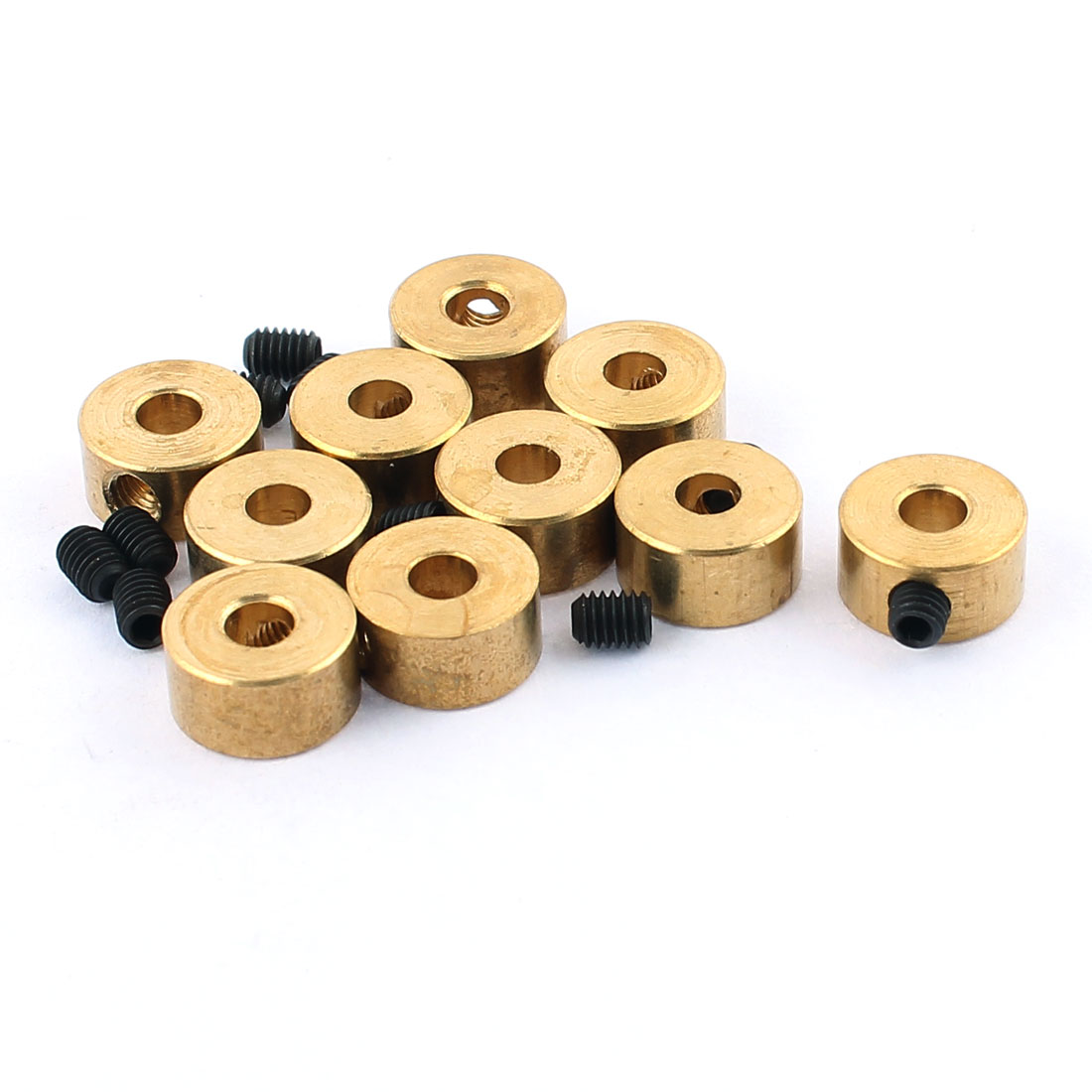 10 Pcs RC Airplane Landing Gear Wheel Stoppers 3.2mm Inner Dia 8x5mm w Screw