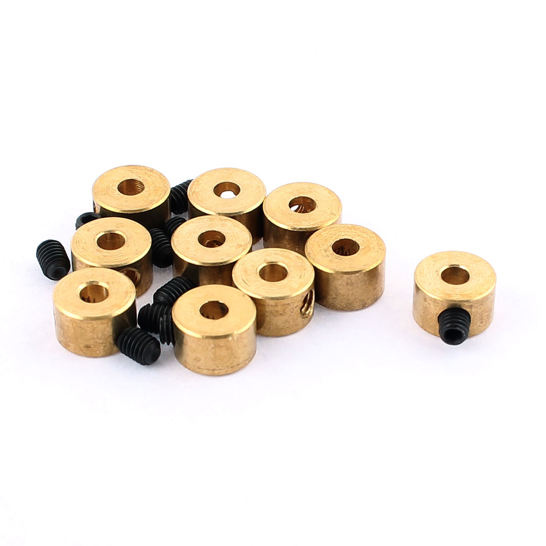 10 Pcs RC Airplane Landing Gear Wheel Stoppers 2.6mm Inner Dia 8x5mm w Screw