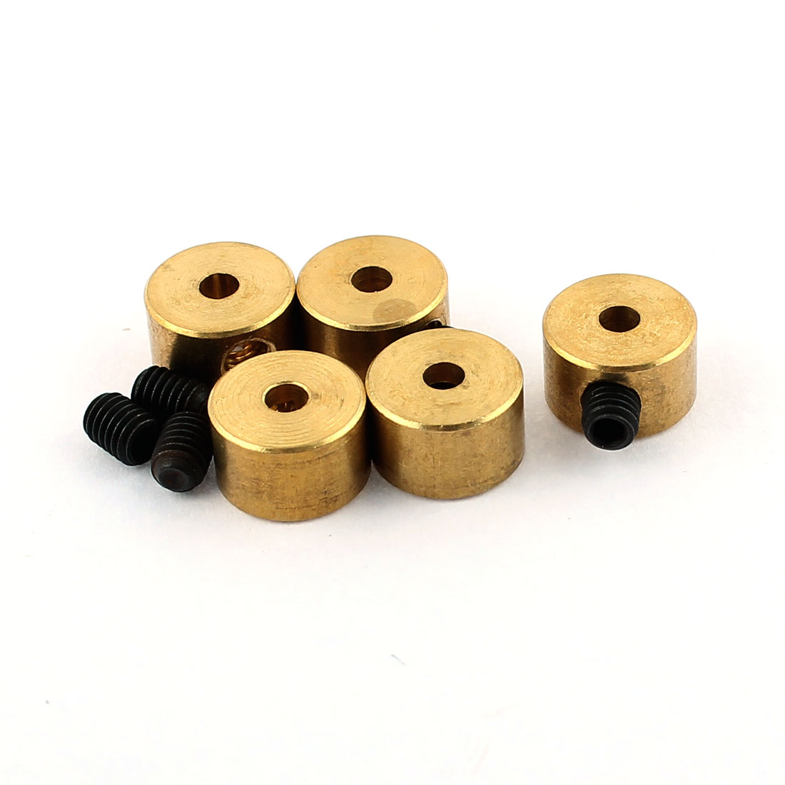 5 Pcs RC Airplane Landing Gear Wheel Stoppers 2mm Inner Dia 8x5mm w Screw