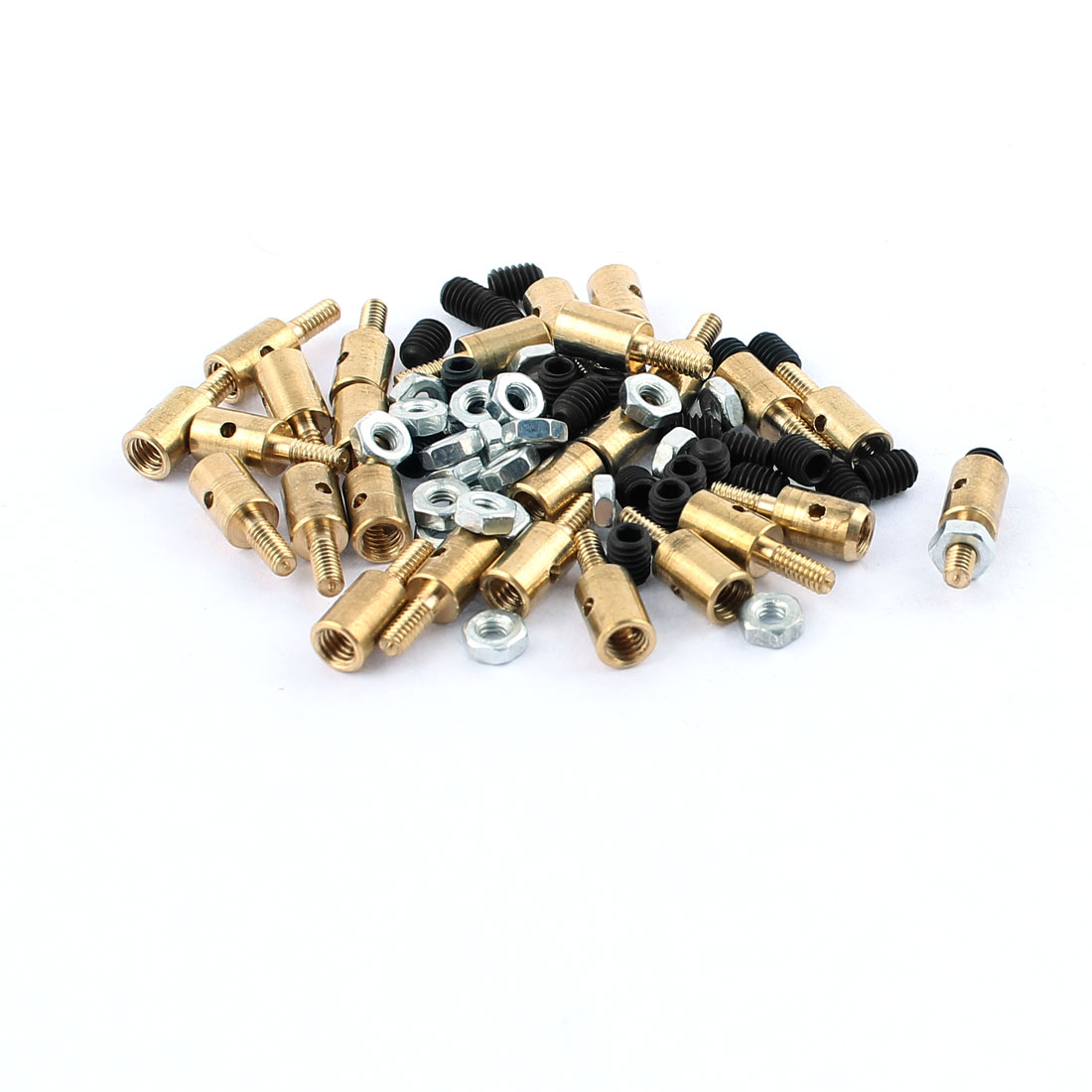 25 Pcs 4 x 1.2 x 11mm Copper Linkage Stoppers PRC Push Rod Keepers w Screws