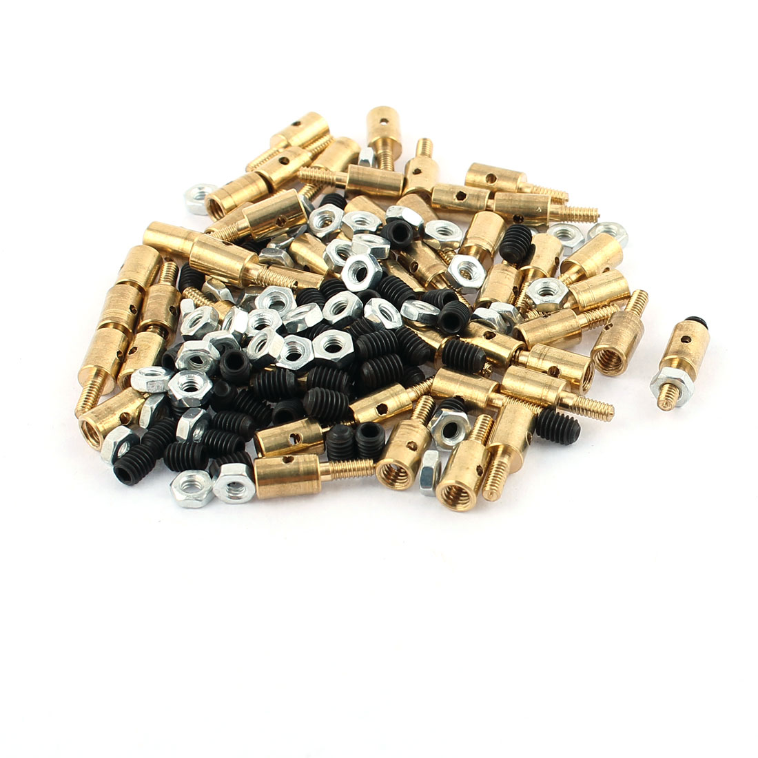 50 Pcs 4 x 2.5 x 11mm Copper Linkage Stoppers PRC Push Rod Keepers w Screws