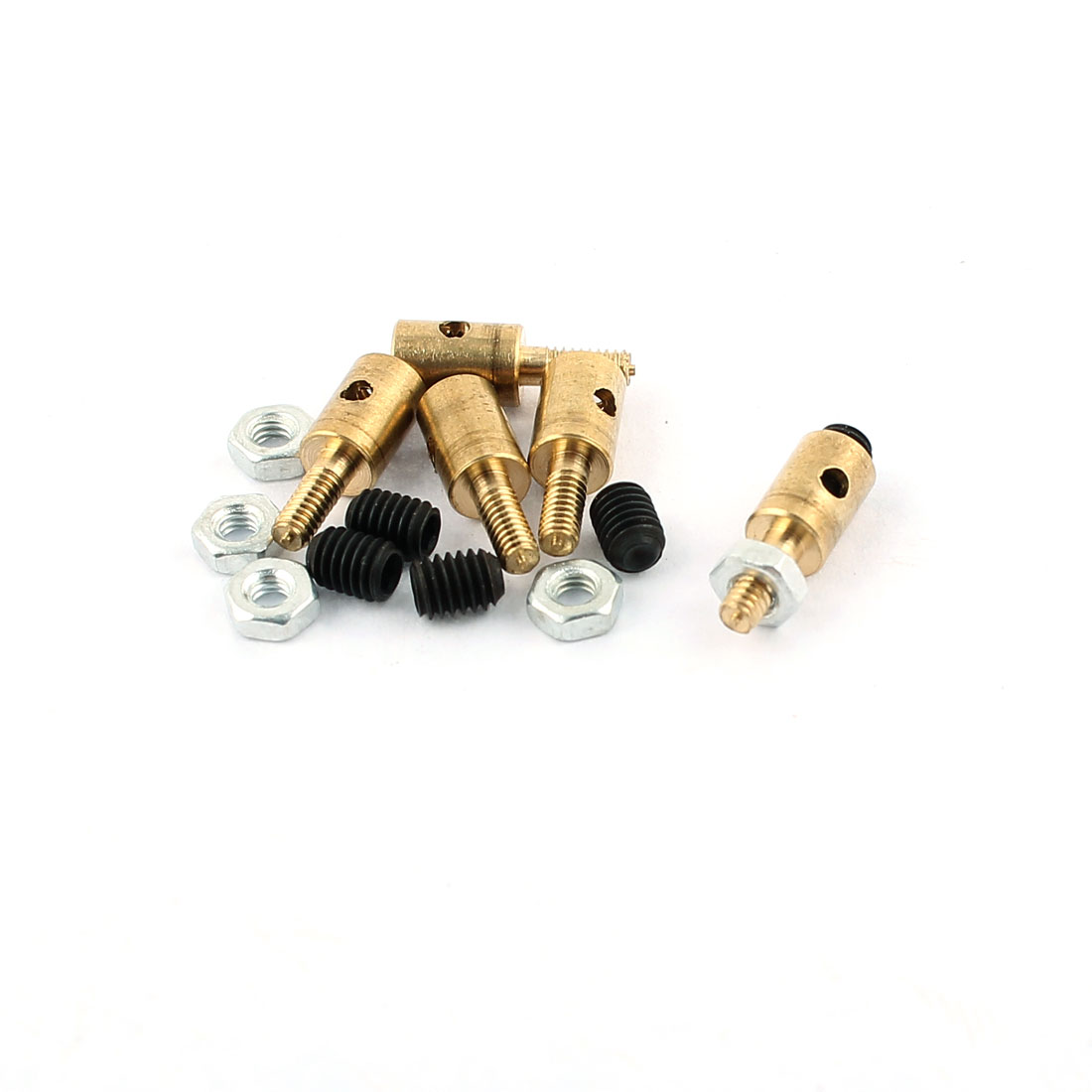 5 Pcs 4 x 1.6 x 11mm Copper Linkage Stoppers PRC Push Rod Keepers w Screws