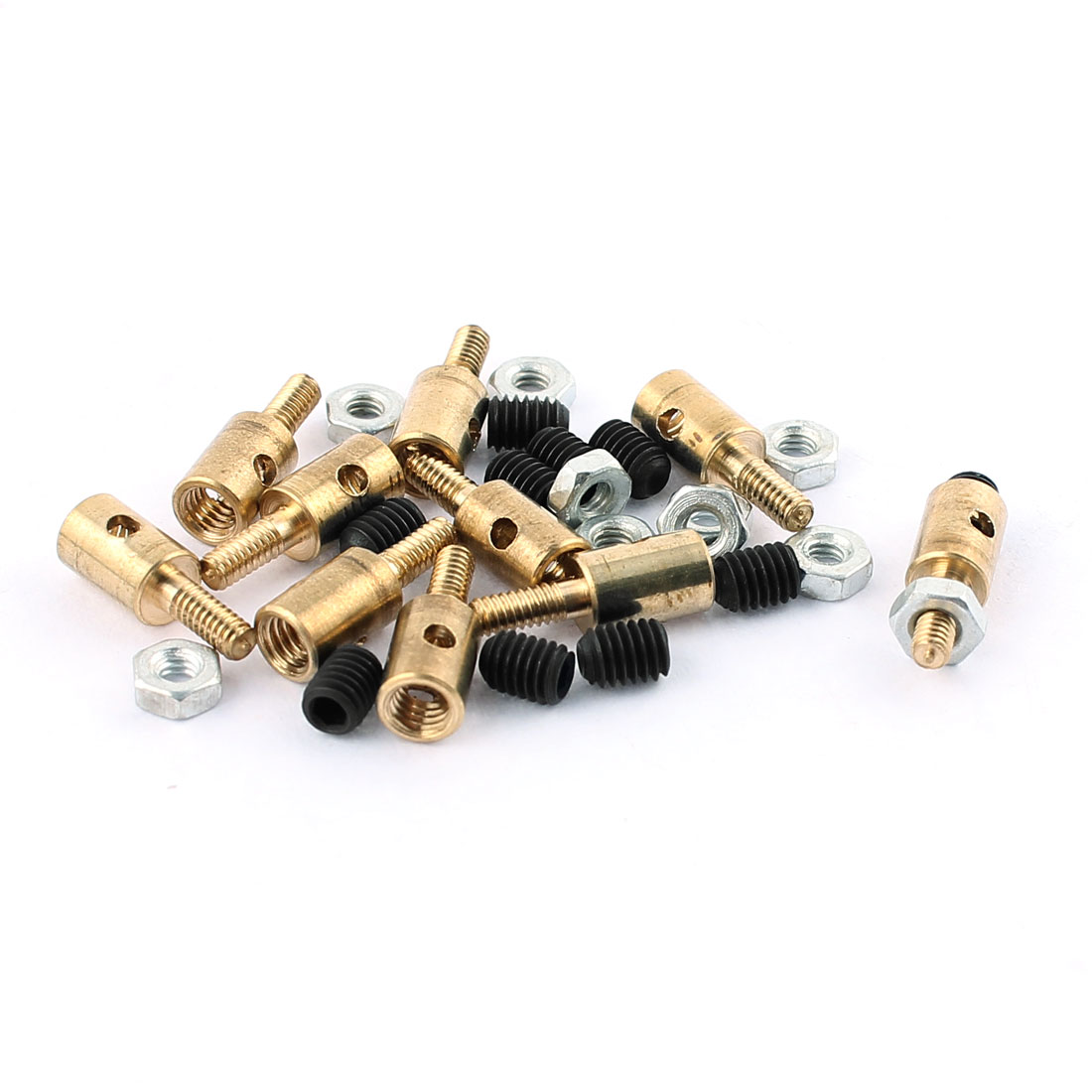 10 Pcs 4 x 1.6 x 11mm Copper Linkage Stoppers PRC Push Rod Keepers w Screws