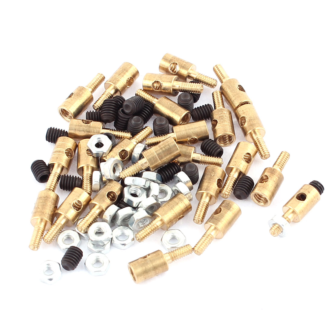 25pcs 4mmx2.1mm Pushrod Linkage Stopper Metal for RC Model w Nuts
