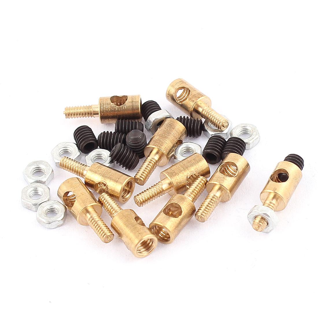 10pcs 4mmx2.5mm Pushrod Linkage Stopper Metal for RC Model w Nuts