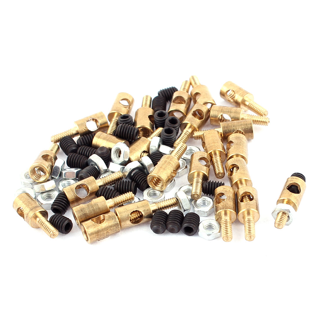 25pcs 4mmx2.5mm Pushrod Linkage Stopper Metal for RC Model w Nuts