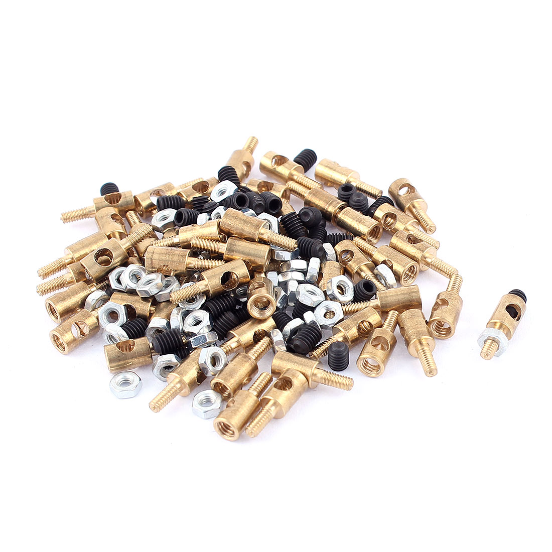 50pcs 4mm x 2.5mm Pushrod Linkage Stopper Metal for RC Model w Nuts