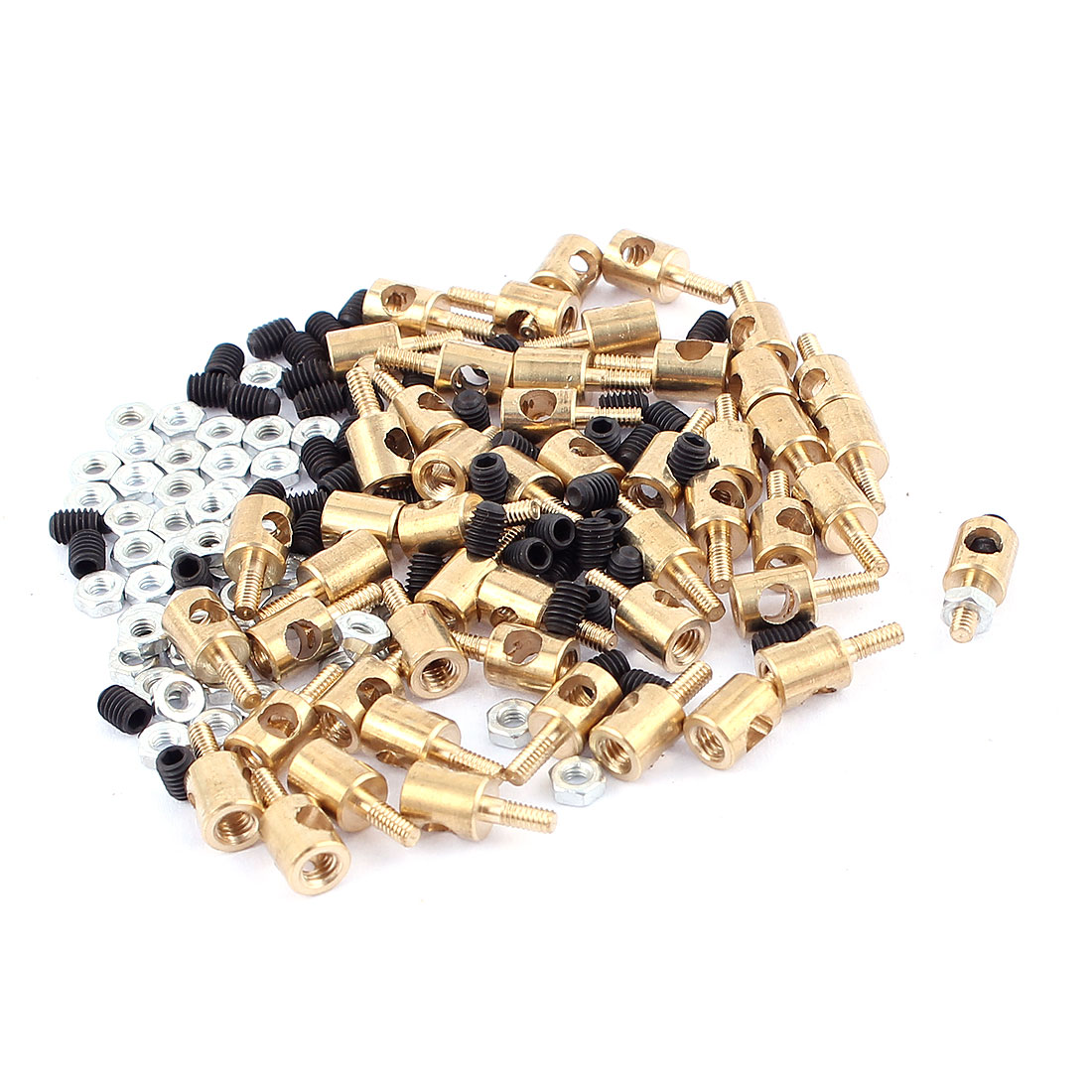 50pcs 5mm x 3mm Pushrod Linkage Stopper Metal for RC Model w Nuts