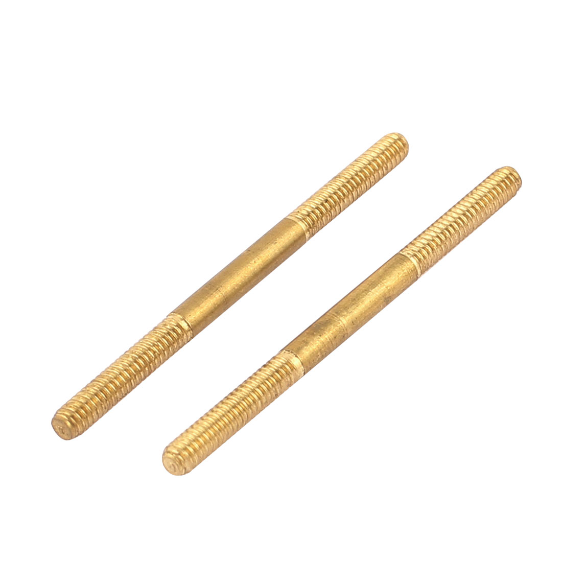 2pcs RC Airplane Parts 1.8mm Dia Thread Tight Adjustable Copper Push Rod 30mm Long