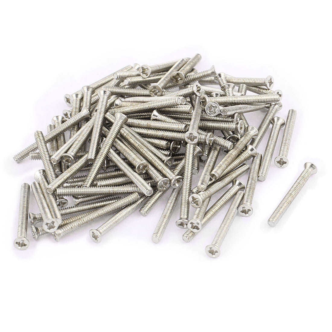 100 Pcs M2x20mm Stainless Steel Countersunk Flat Head Phillips Machine Screws Bolts
