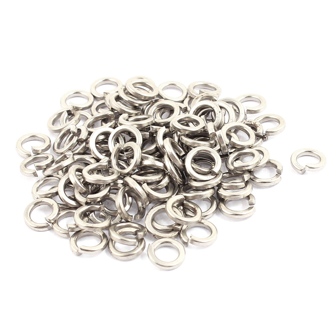 100pcs 4x6mm 304 Stainless Steel Rectangular Section Split Lock Spring Washers