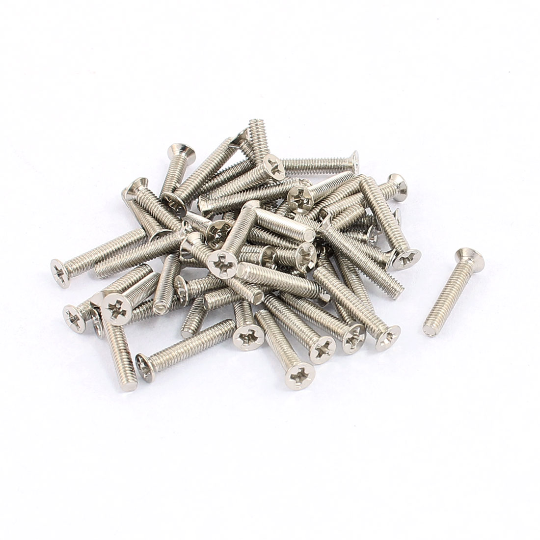 50 Pcs M2.5x14mm Stainless Steel Countersunk Flat Head Phillips Machine Screws Bolts