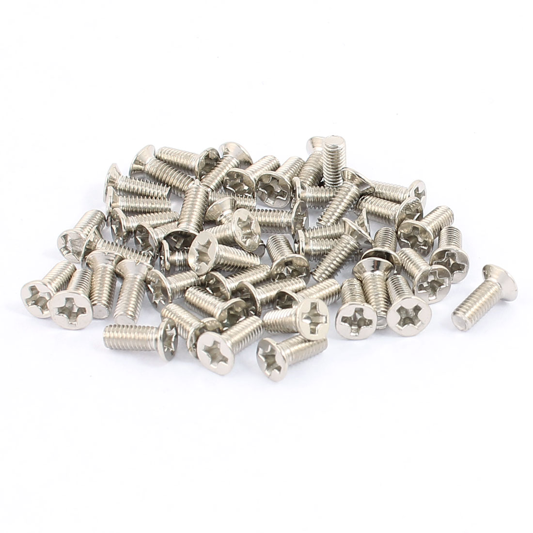 50 Pcs M3x8mm Stainless Steel Countersunk Flat Head Phillips Machine Screws Bolts