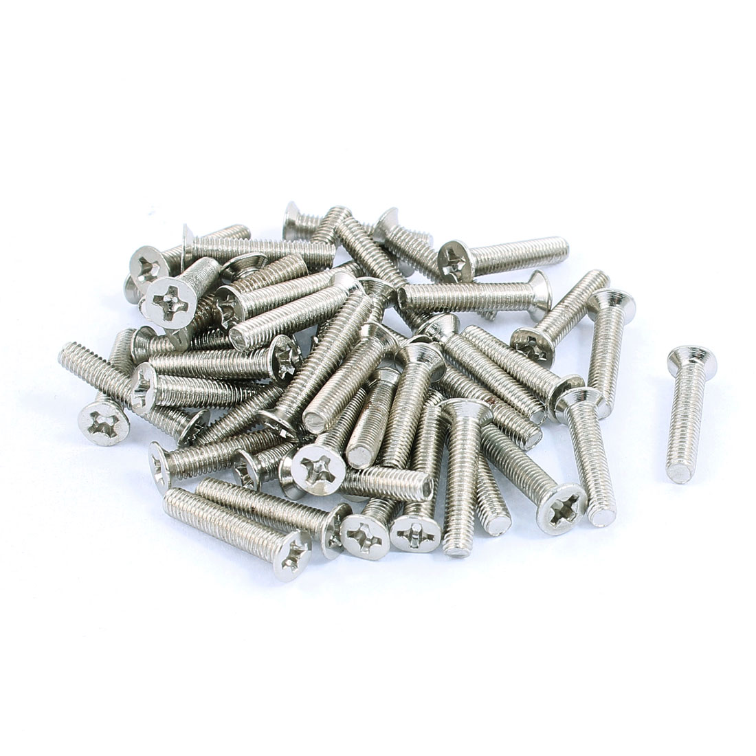 50pcs M3x16mm Stainless Steel Countersunk Flat Head Phillips Machine Screws Bolts