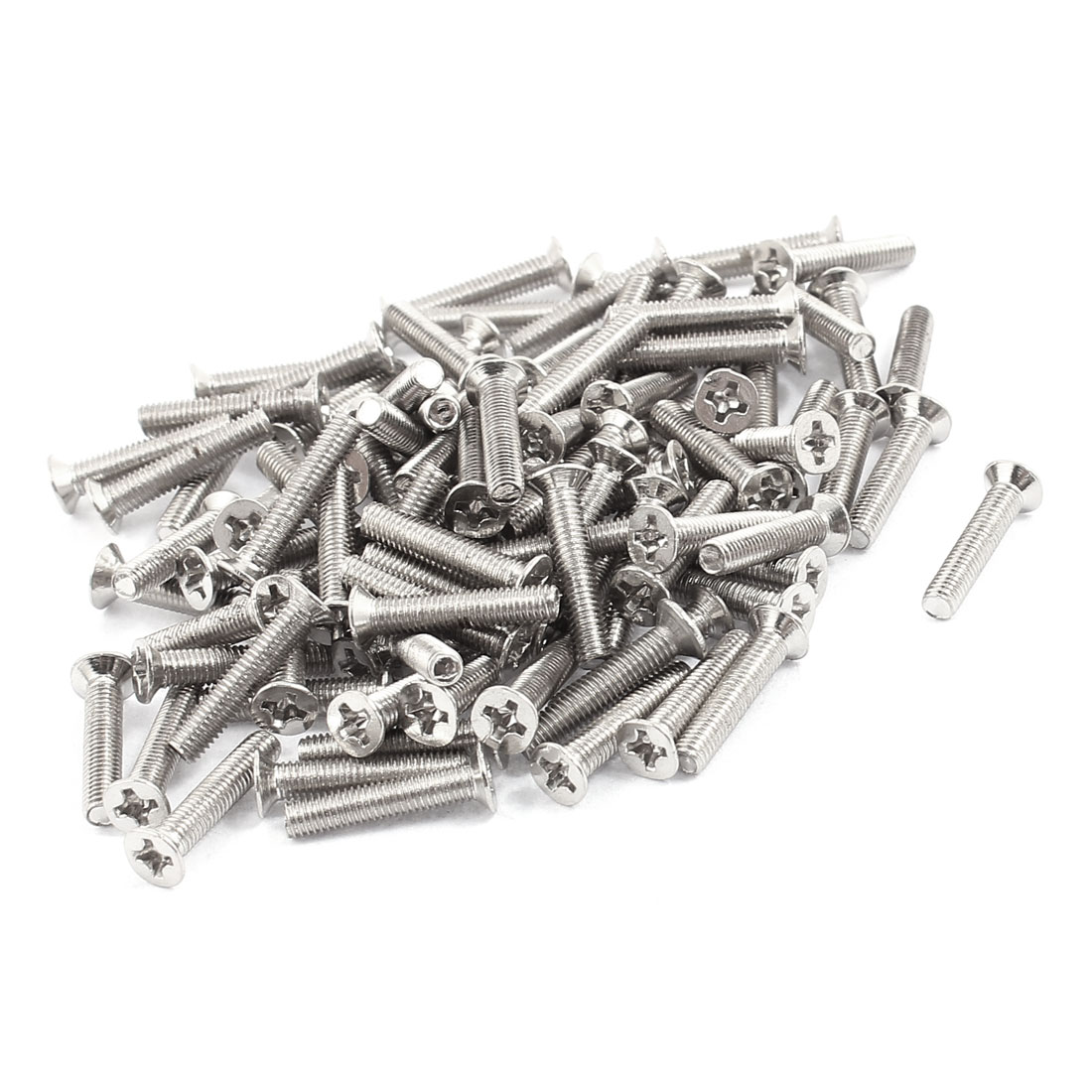 M3x16mm Stainless Steel Phillips Flat Head Countersunk Machine Screws Bolts 100pcs