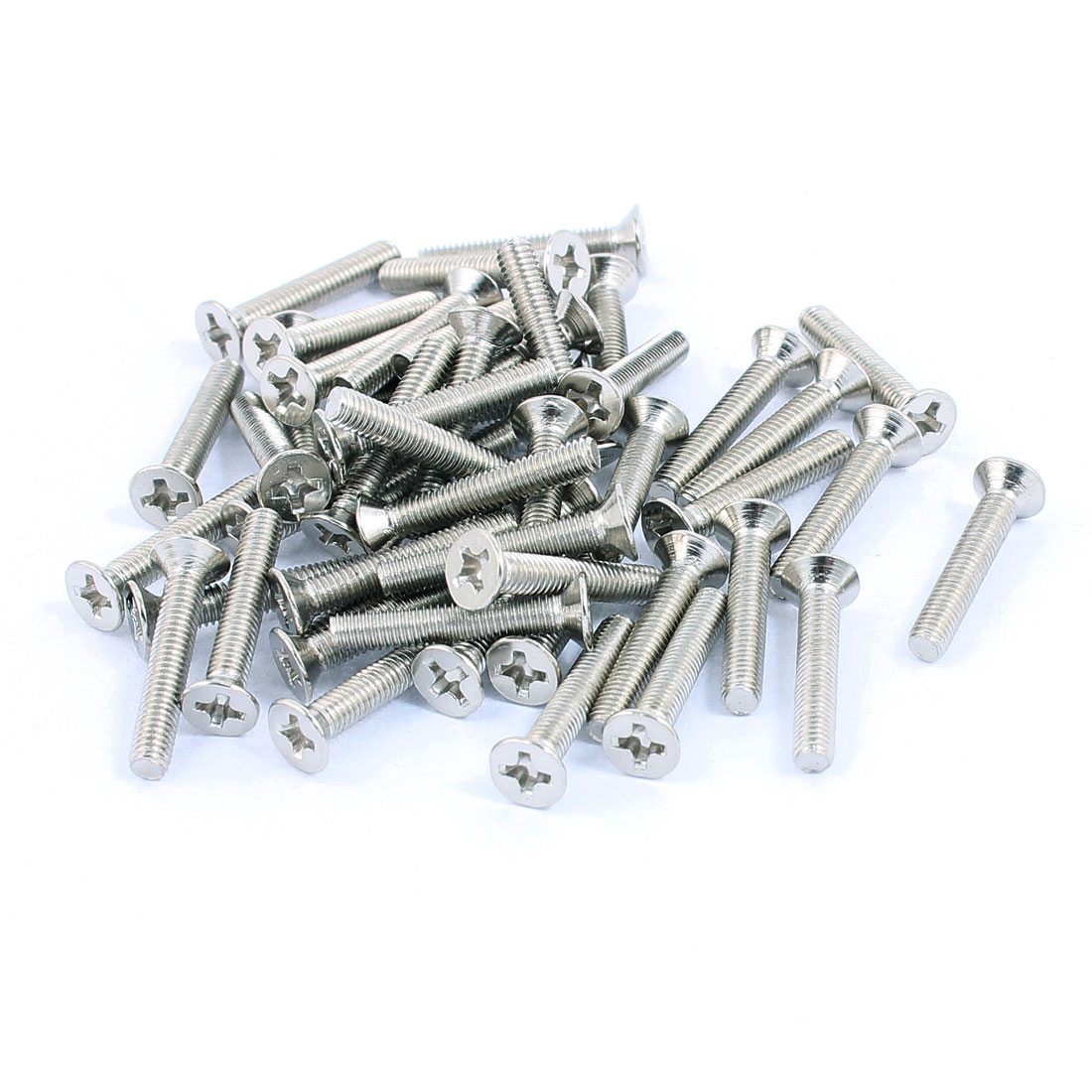 M3x18mm Stainless Steel Phillips Flat Head Countersunk Machine Screws Bolts 50pcs