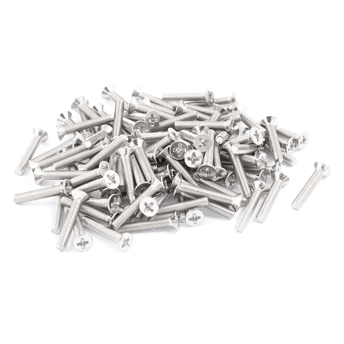 100pcs M3x18mm Stainless Steel Countersunk Flat Head Phillips Machine Screws Bolts