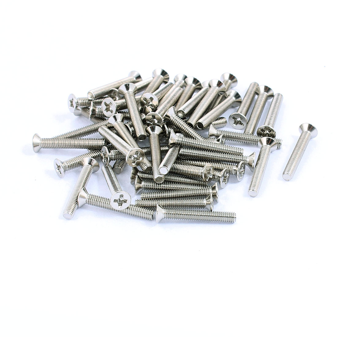 50pcs M3x20mm Stainless Steel Countersunk Flat Head Phillips Machine Screws Bolts