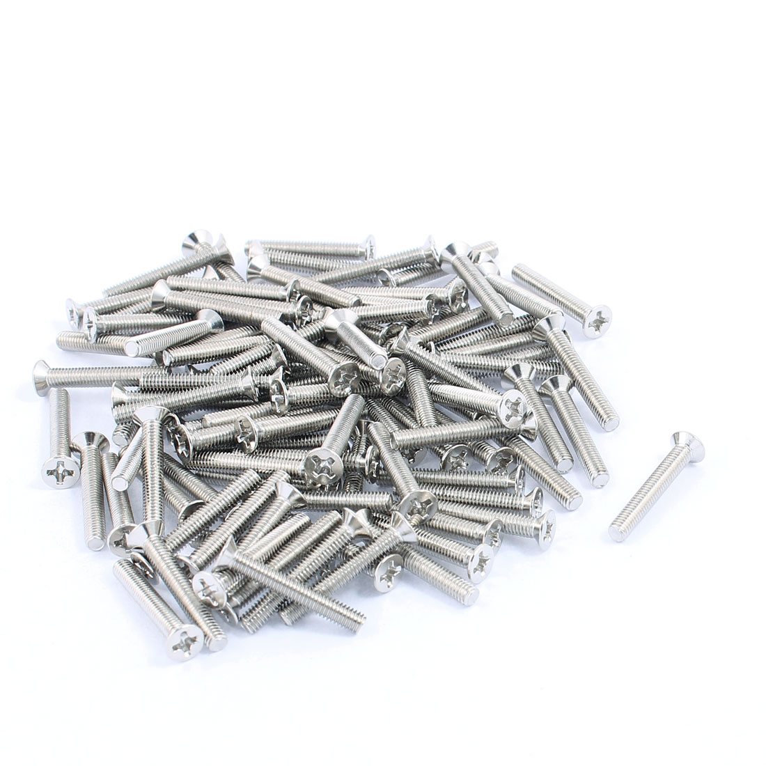 M3x20mm Stainless Steel Phillips Flat Countersunk Head Machine Screws Bolts 100pcs