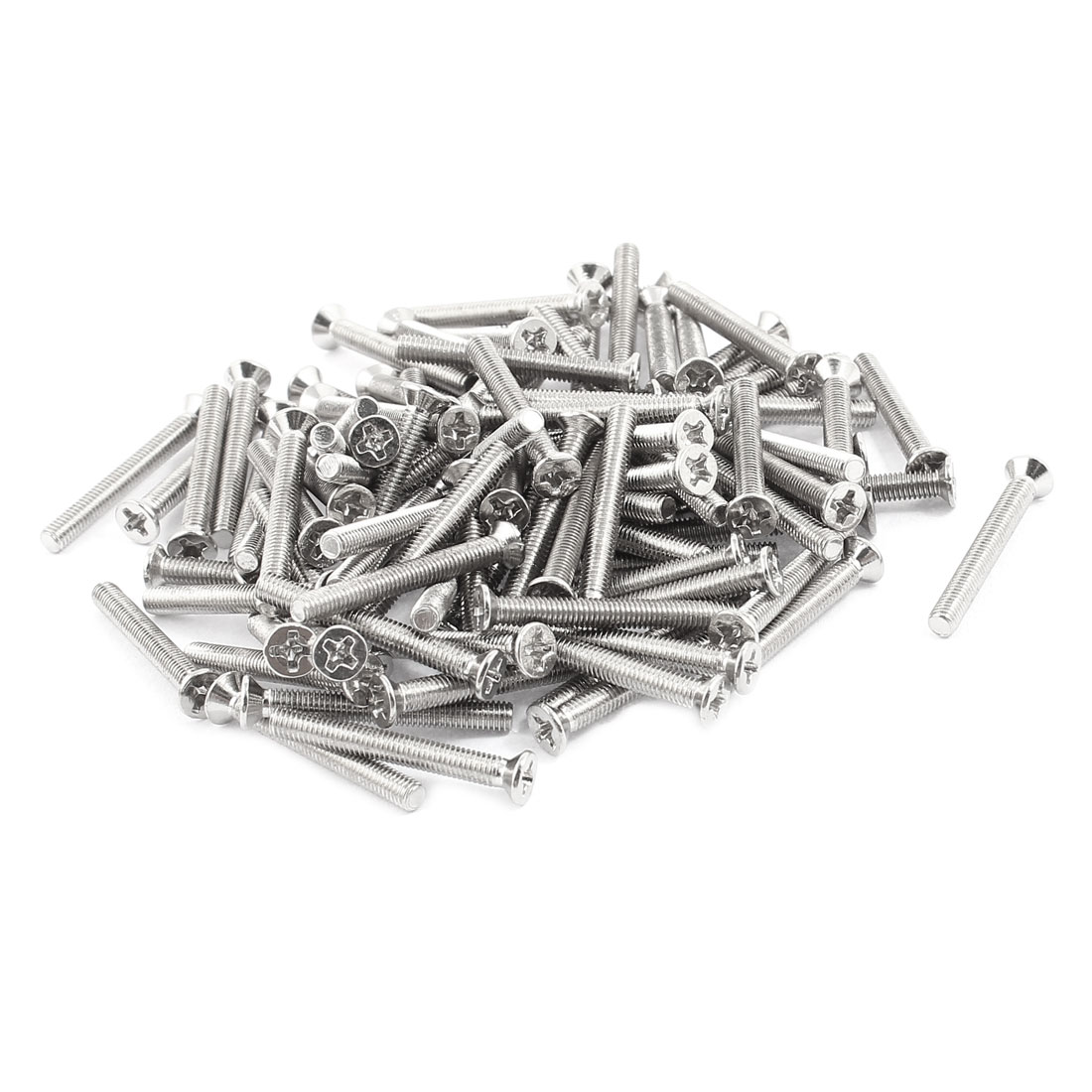 M3x25mm Stainless Steel Phillips Flat Countersunk Head Machine Screws Bolts 100pcs