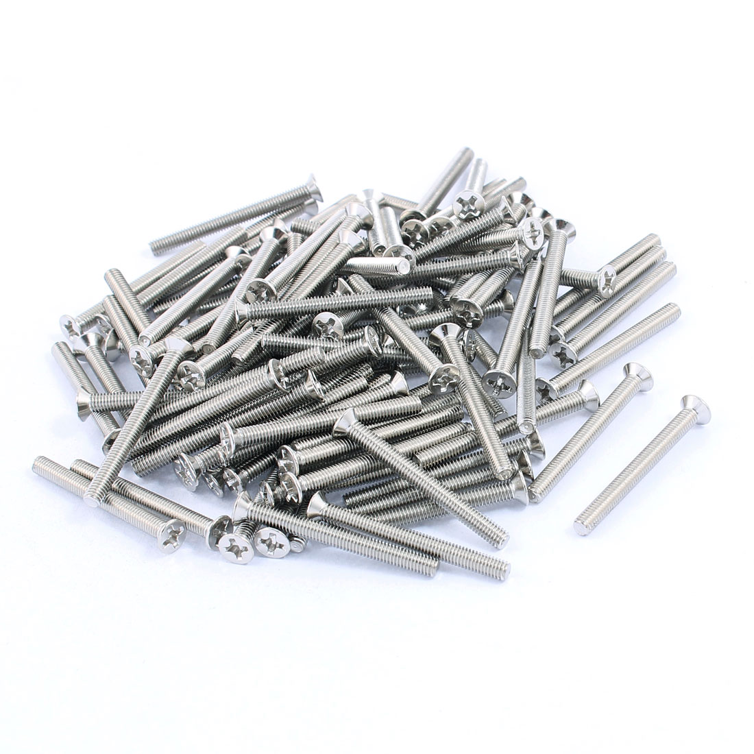 M3x30mm Stainless Steel Phillips Flat Countersunk Head Machine Screws Bolts 100pcs