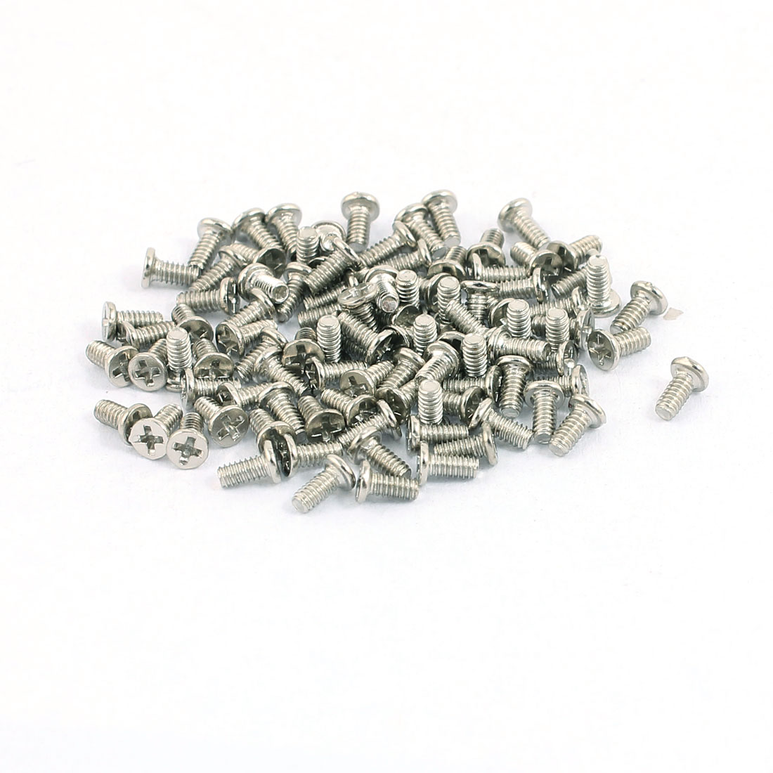 100pcs M1.4x2.5mm Stainless Steel Countersunk Flat Head Phillips Machine Screws Bolts