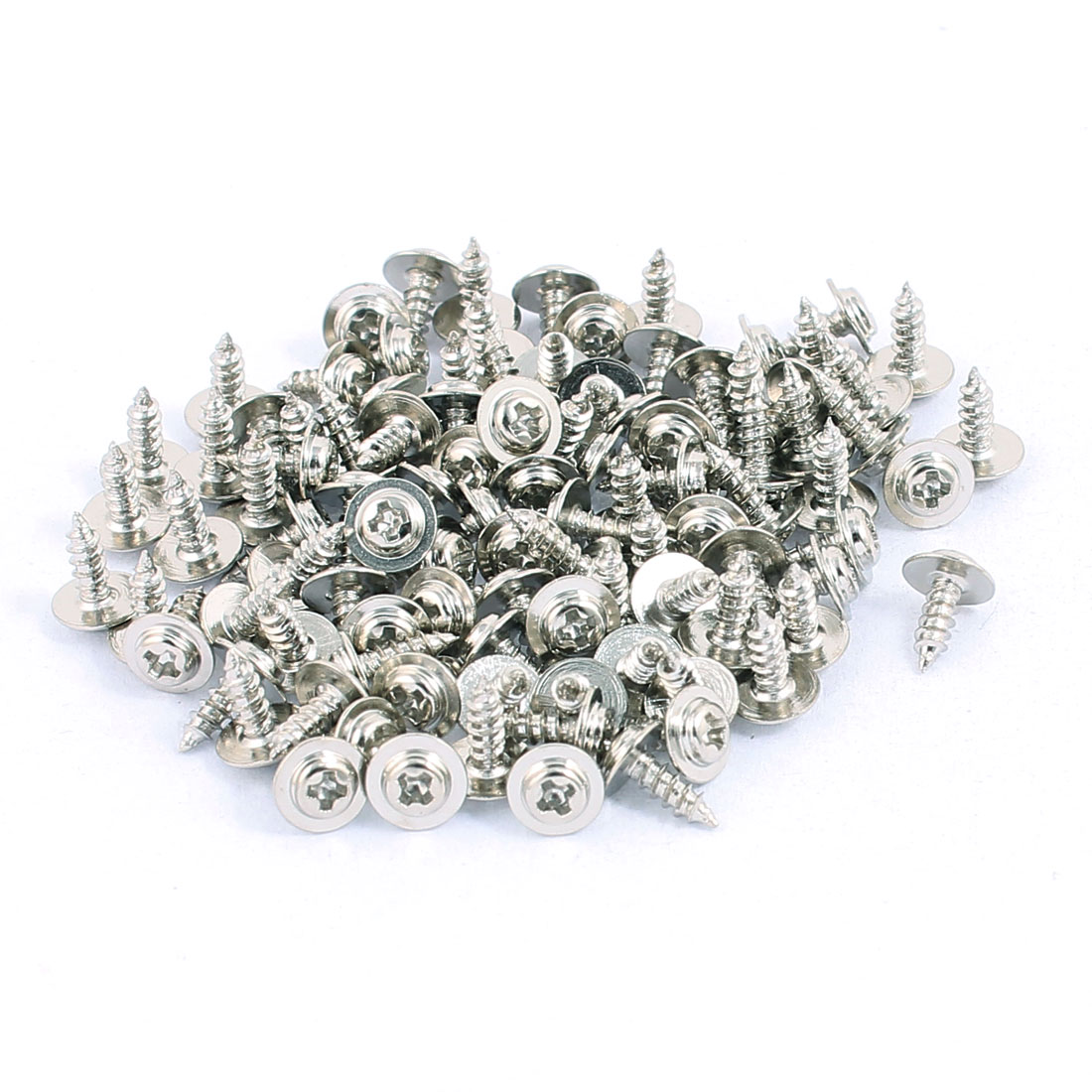 6 x 2mm 100 xStainless Steel Round Phillips Head Self Tapping Screw With Washer