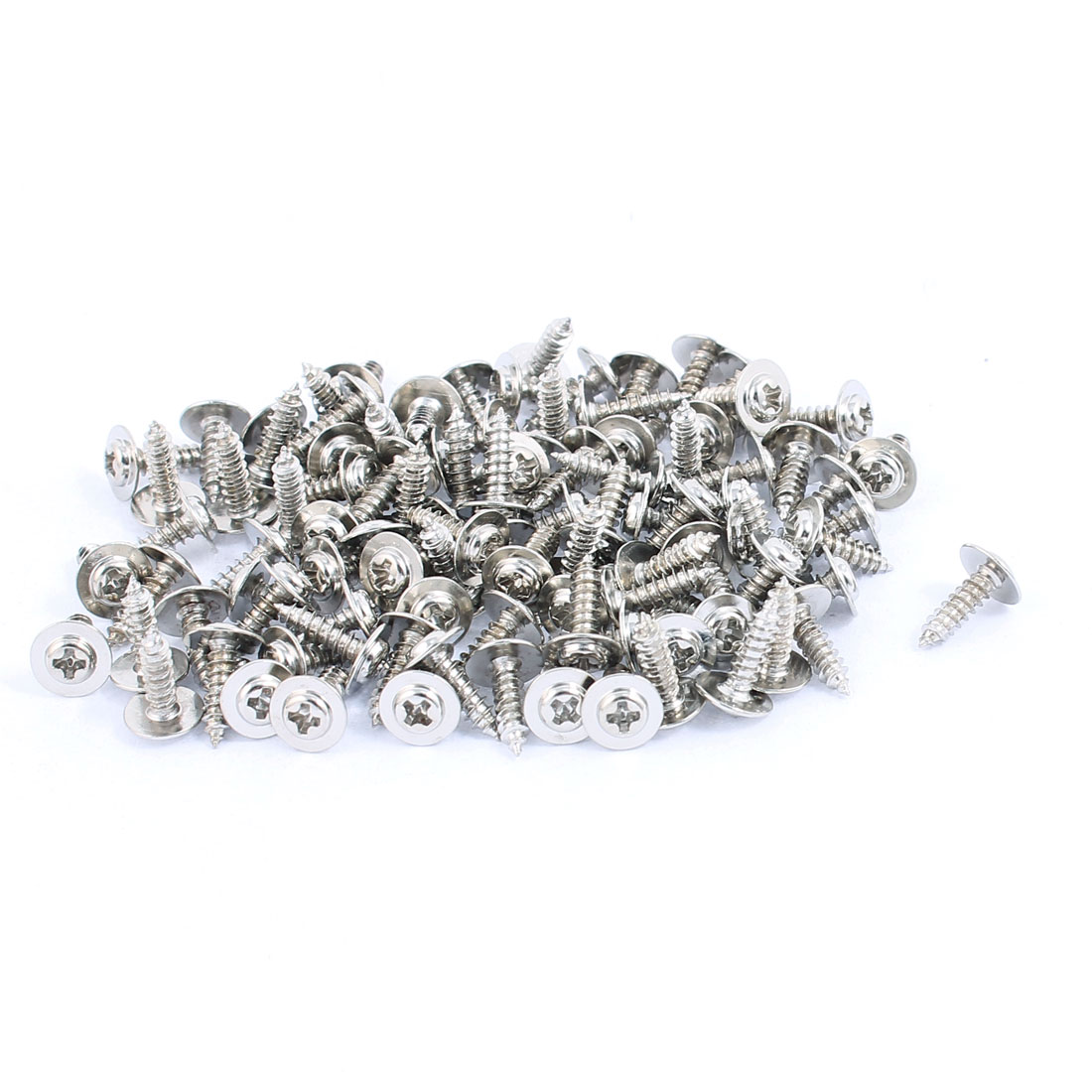 100pcs 2.3x8mm Stainless Steel Self Tapping Screw Phillips Head With Washer