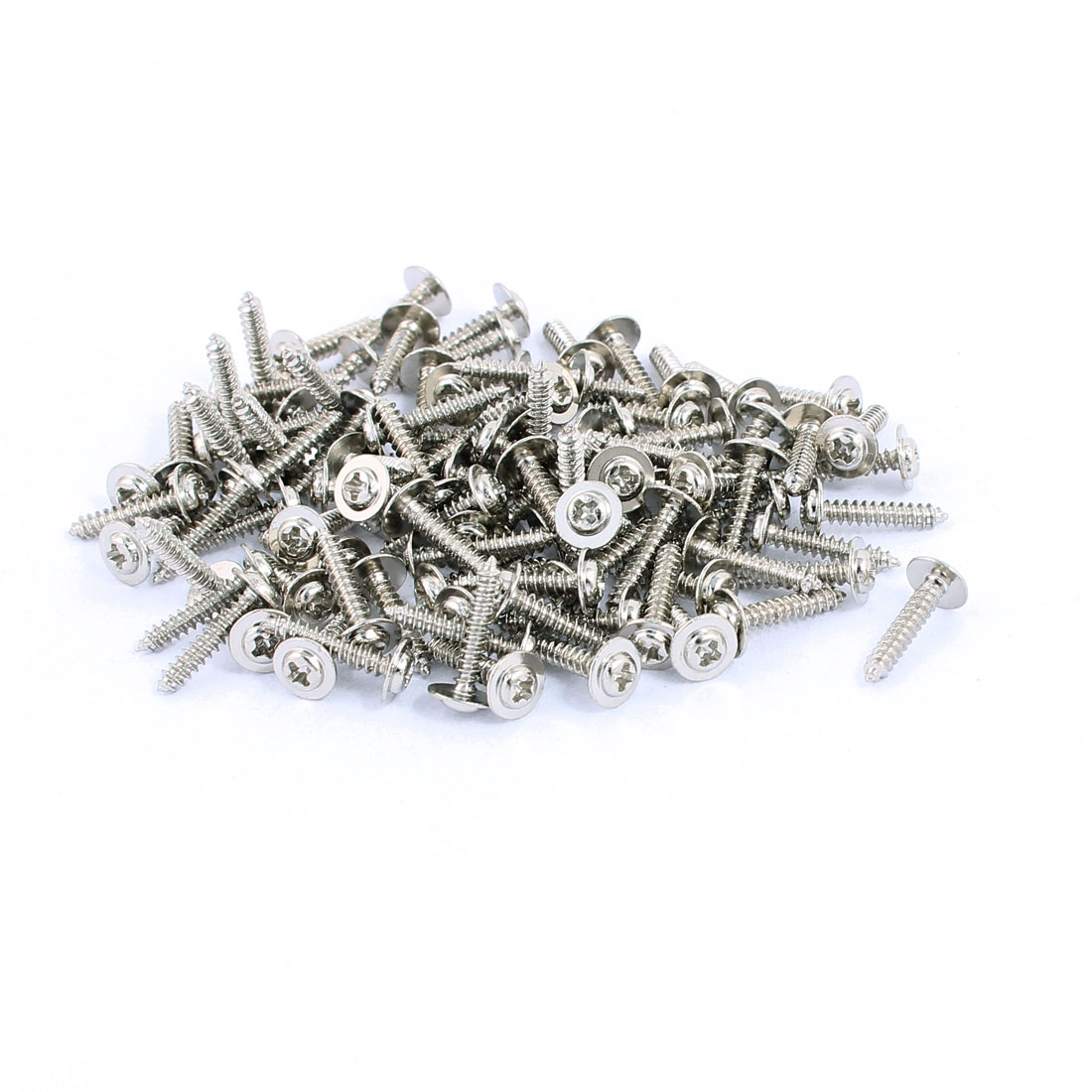 100pcs 2.3x12 Stainless Steel Phillips Head Self-Tapping Screws(PWA) with Washer