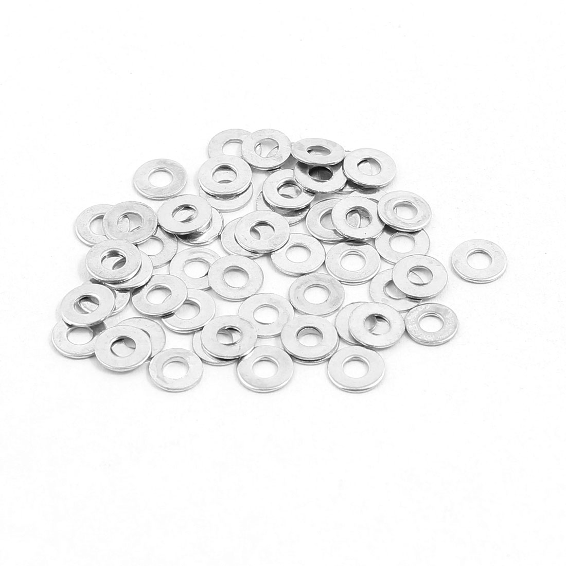 2x5mm Stainless Steel Flat Washer Plain Spacer Gasket Fastener for Screw Bolt 50pcs