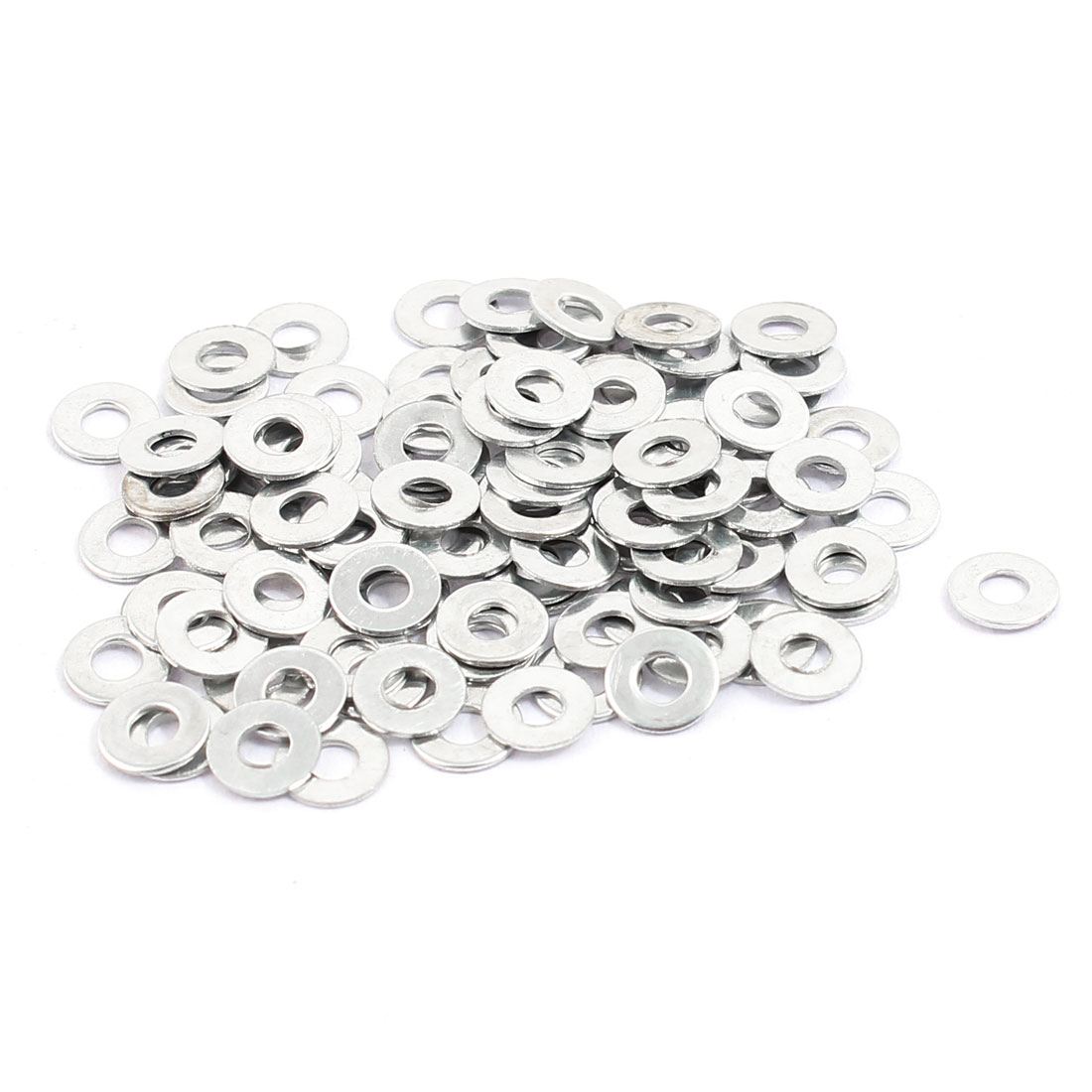 100pcs 5x2mm Stainless Steel Flat Washer Fastener Plain Spacer Gasket for Screw Bolt