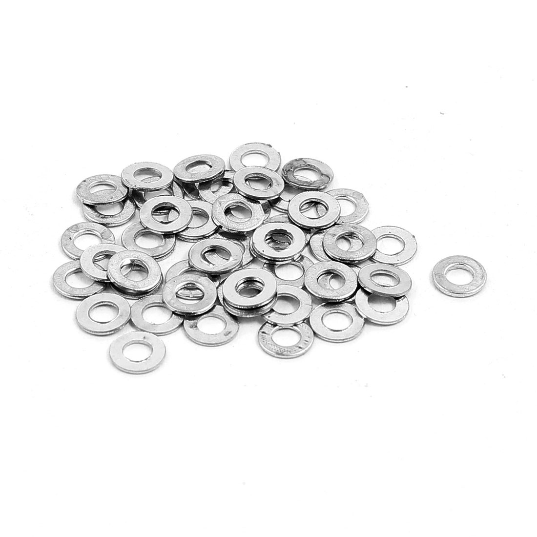 2.5x5mm Stainless Steel Flat Washer Plain Spacer Gasket Fastener for Screw Bolt 50pcs