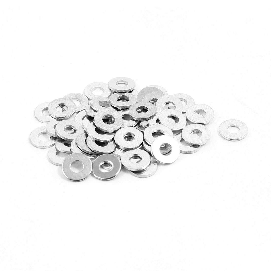 3x8mm Stainless Steel Flat Washer Plain Spacer Gasket Fastener for Screw Bolt 50pcs