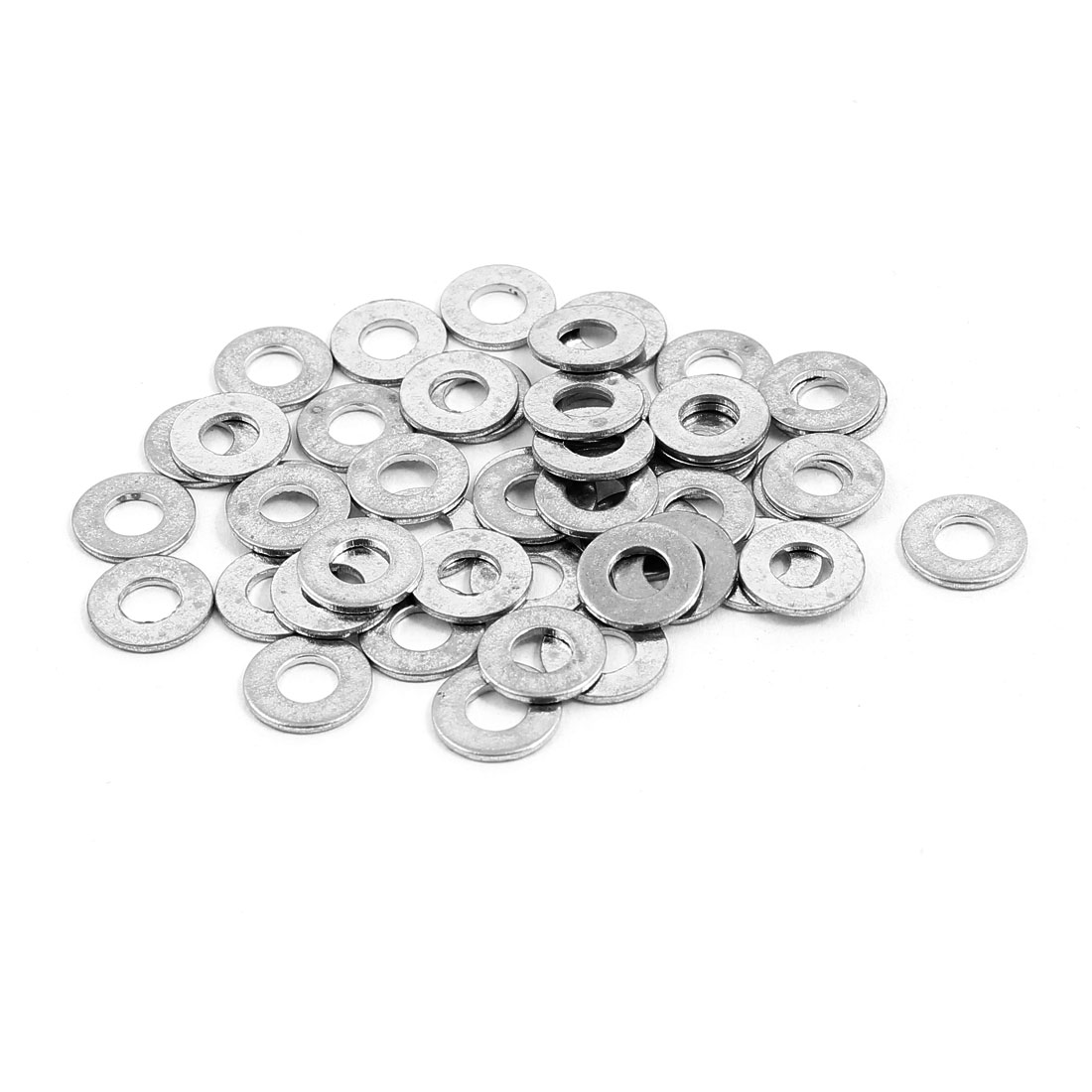 4x9mm Stainless Steel Flat Washer Plain Spacer Gasket Fastener for Screw Bolt 50pcs
