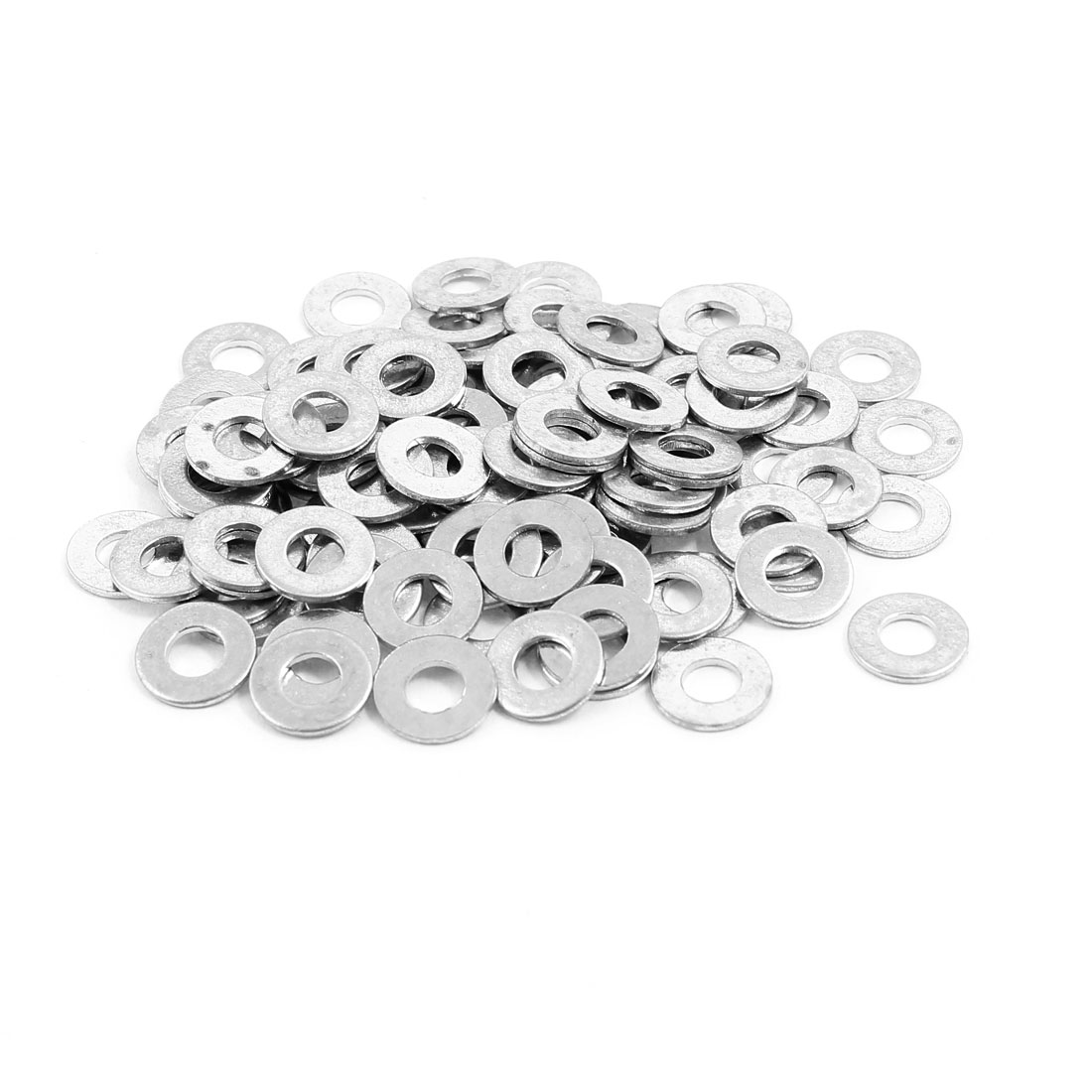 100pcs 4x9mm Stainless Steel Flat Washer Fastener Plain Spacer Gasket for Screw Bolt