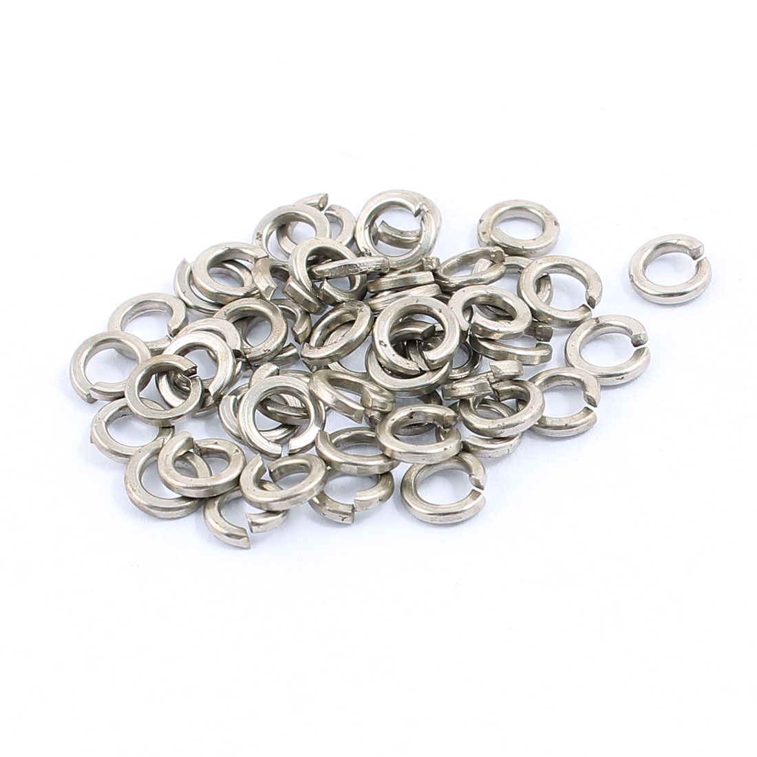 50pcs 3x5mm 304 Stainless Rectangular Section Split Lock Spring Washers Spacer for Screw