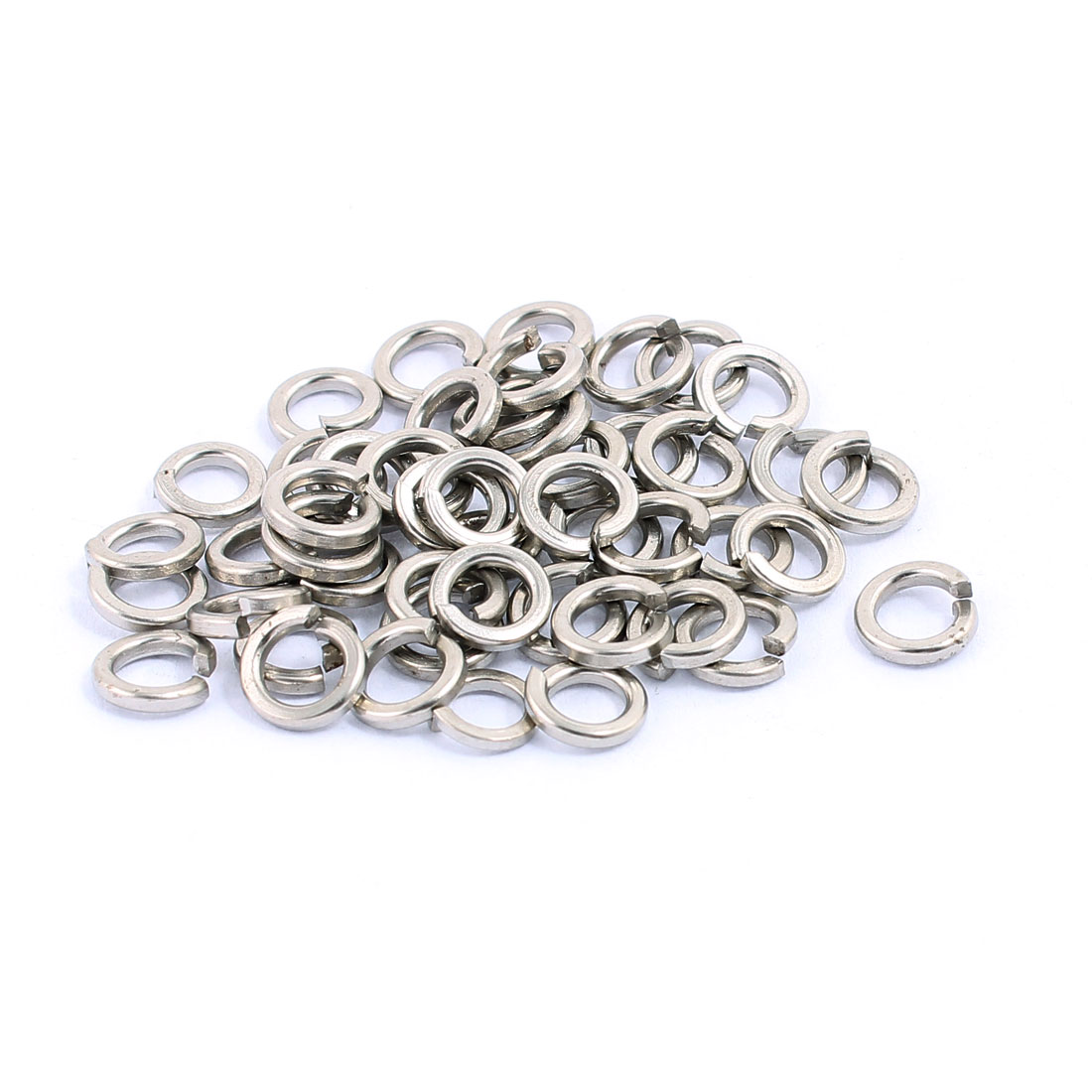50pcs 4x6mm 304 Stainless Rectangular Section Split Lock Spring Washers Screw Spacer