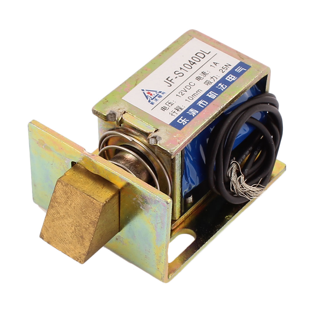 JF-S1040DL DC 12V 1A Pull Push Type Open Frame Solenoid Electromagnet for Locks