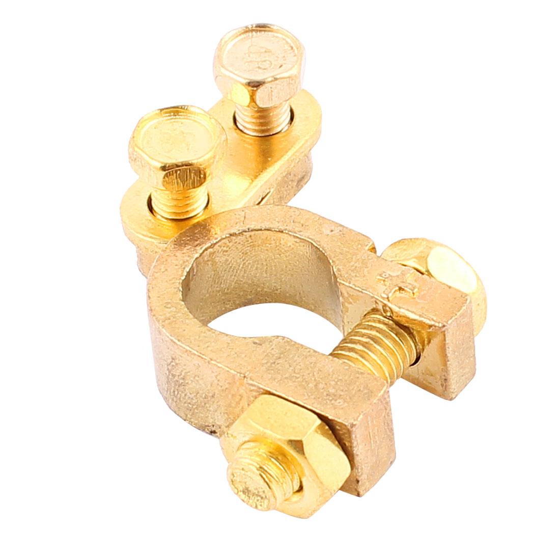 Car Battery Terminal Clamp Screw Connection Positive Brass Cable Fitting