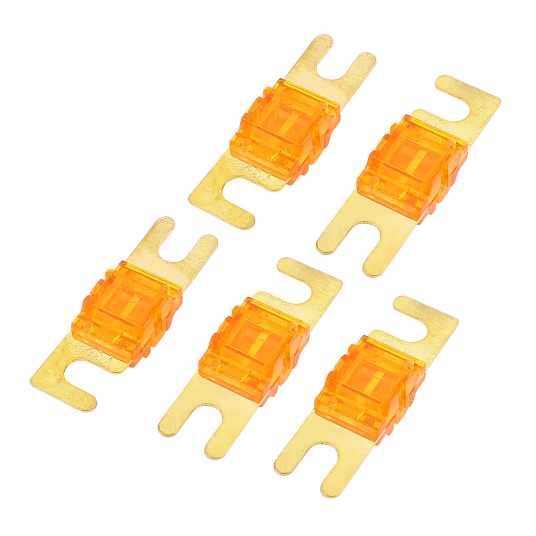 5 pcs Mini-ANL Fuses 40A Car Audio Power Wire Boat Auto Electronics Fuse Orange