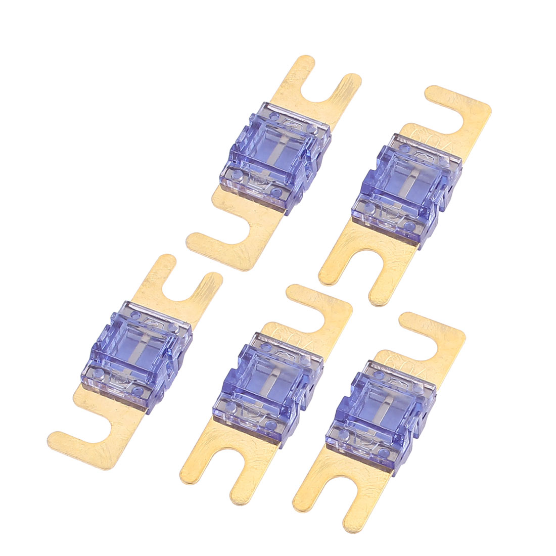 5 pcs Mini-ANL Fuses 60A Car Audio Power Wire Boat Auto Electronics Fuse Blue
