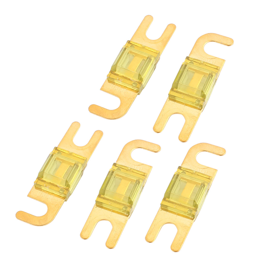 5 pcs Mini-ANL Fuses 100A Car Audio Power Wire Boat Auto Electronics Fuse Yellow