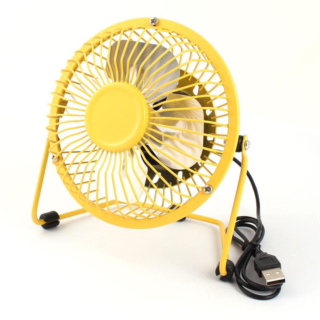 Computer Notebook Laptop Metal Mute Portable USB Mini Cooler Cooling Fan Yellow